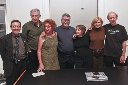 Left to right:  A.D. Coleman, moderator; Mark Haven, Sonia Katchian, Lee Romero, Jill Freedman, Catherine Utrillo, Harvey Stein.  by � Norman Borden.