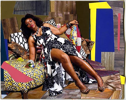 She Ain�t a Child No More by Mickalene Thomas. Source: lehmannmaupin.com