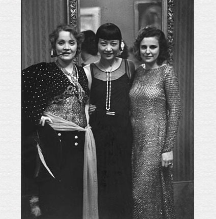 Marlene Dietrich, Anna May Wong, and Leni Riefenstahl at Artists' Ball, Berlin by Alfred Eisenstaedt. Source: staleywise.com