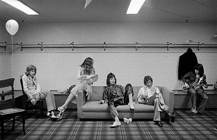 Rolling Stones Backstage by Jim Marshall. Source: stevenkasher.com