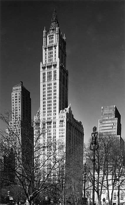 Woolworth Building by  Steven Tucker. Source: nyhistory.org