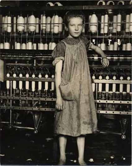 Photo by Lewis Hine . Source: klotzgallery.com