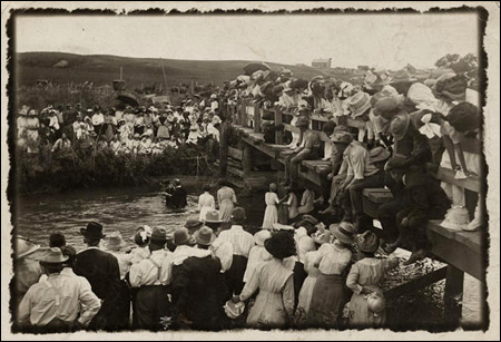 [River baptism, Pibel, Nebraska] by Unidentified Photographer. Source: icp.org